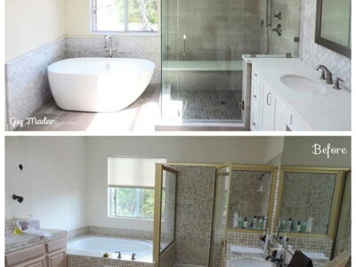 bathroom before & after Yorgin