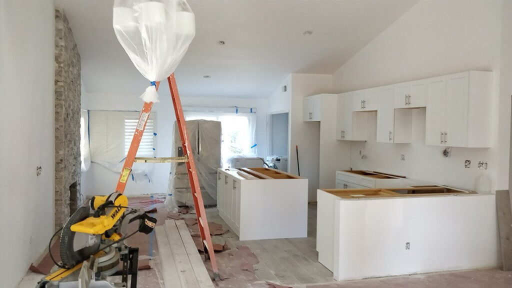 from tearing out a kitchen to the finished remodeled product in san diego
